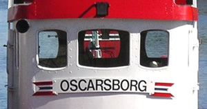 Closeup of OSCARSBORG.