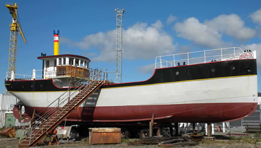 Vaerdalen - restored and ready for sea.