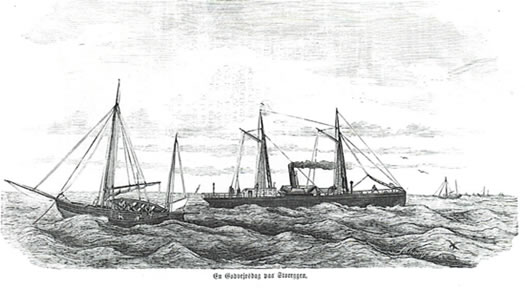 HANSTEEN sounding at Storegga fishingbank, 1870.