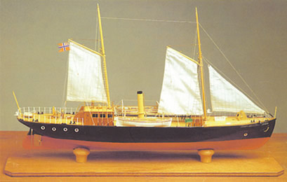 A Model of Hansteen made by Erling Beenfeldt.