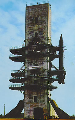 US Army Ordnance static test tower at Redstone Arsenal.